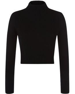 Roll Neck Wool Crop Sweater