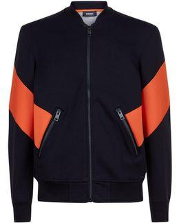 Orange Side Panel Sweatshirt