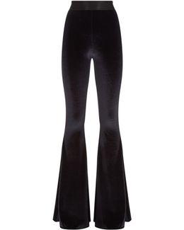 Velvet Flare Trouser