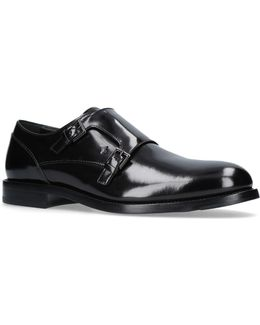Patent Double Monk Shoes