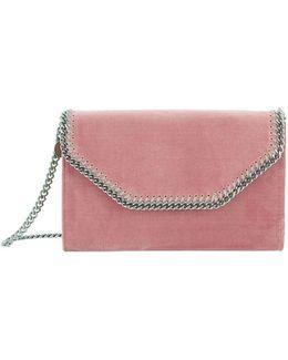 Small Falabella Box Velvet Clutch Bag