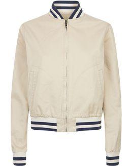 Tweed Print Bomber Jacket