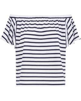 Off-the-shoulder Striped Top