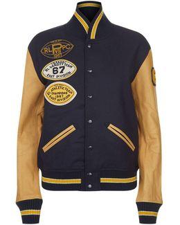 Varsity Patchwork Bomber Jacket