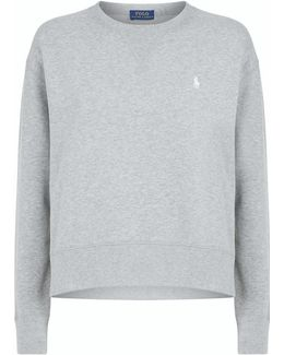 Crew Neck Embroidered Logo Sweatshirt
