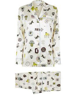 Lila Crystal Silk Pyjamas