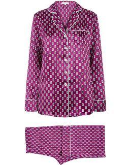 Lila Billie Silk Pyjamas