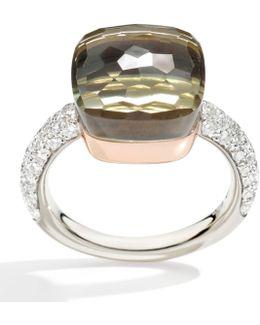 Nudo Prasiolite And Diamond Maxi Ring