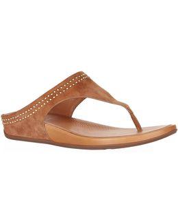 Suede Banda Studded Sandals
