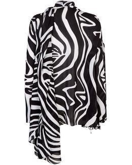 Zebra Print Kaftan Top