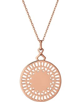 Timeless Engraved Pendant Necklace