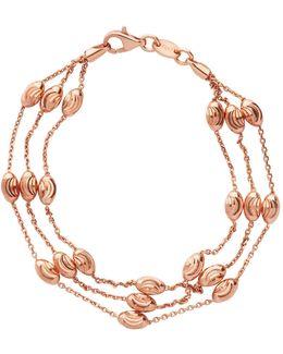 Beaded 2 Row Chain Bracelet