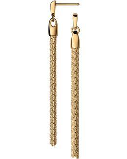Essentials Silk Row Drop Earrings