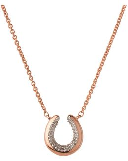Ascot De Horseshoe Rose Gold Necklace