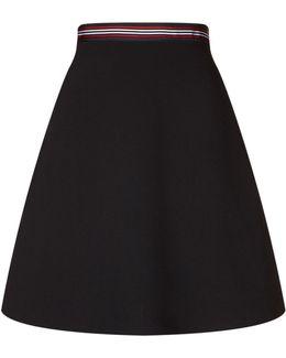 Striped Waistband Mini Skirt