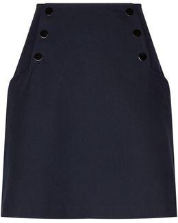 Press-stud Detail Mini Skirt