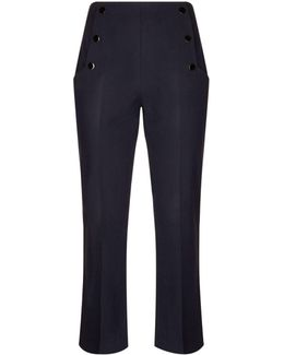 Press-stud Detail Tailored Trousers