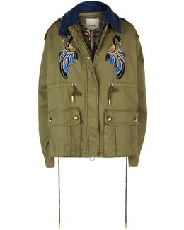 Cropped Parka With Bomber Jacket Lining