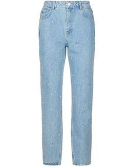Beaded Slim Leg Jeans