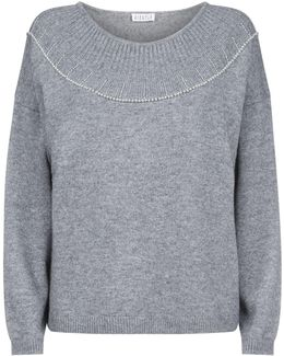 Pearl Bead Embellished Sweater