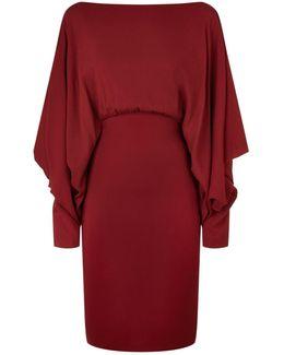 Batwing Crepe Dress