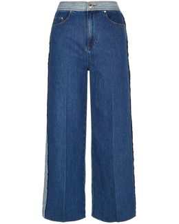 Inside-out Culotte Jeans