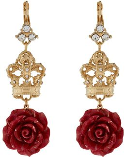 Rose And Crown Earrings