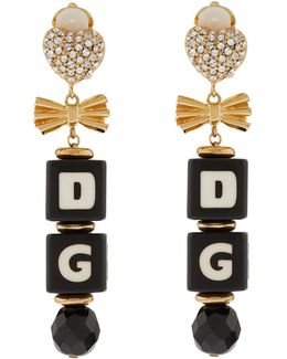 Logo Charm Earrings