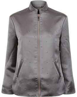 Dannee Embellished Bomber Jacket