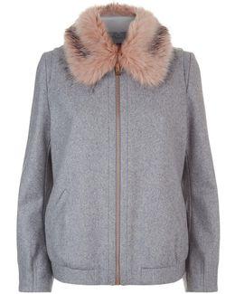 Robley Faux Fur Trim Jacket