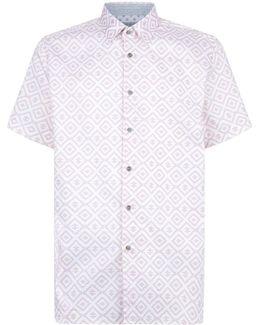 Almada Geometric Print Shirt