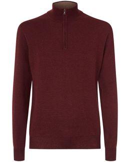 Knitted Half-zip Sweater