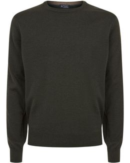 Crew Neck Cashmere-blend Sweater