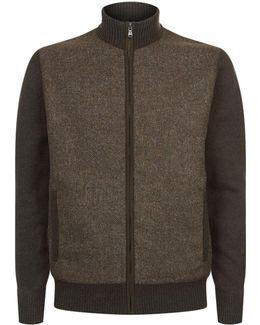 Zip-through Tweed Cardigan
