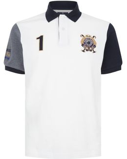Embroidered Crest Short Sleeve Polo Shirt