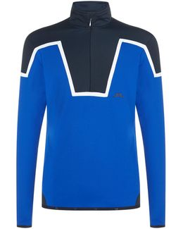 Chevron Half-zip Sweater