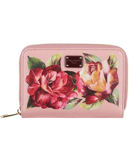 Floral Bloom Zip-around Wallet