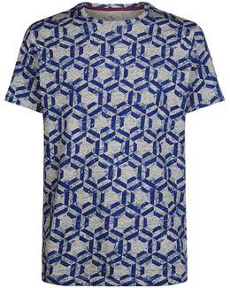 Mitch Hexagon Print T-shirt