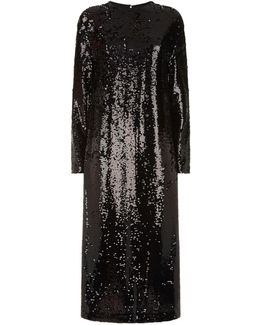 Relaxed Sequin Midi Dress