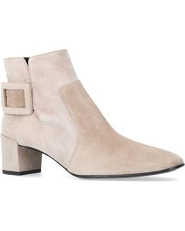 Suede Polly Ankle Boots 45