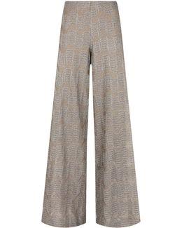 Wide Leg Lurex Trousers