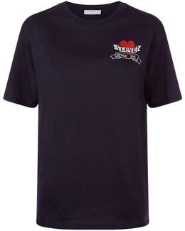 Patch Embroidered Cotton T-shirt