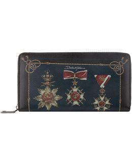 Military Medal Zip-around Wallet