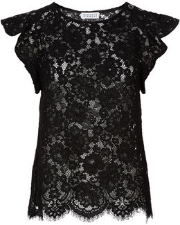 Baily Flutter Sleeve Lace Top