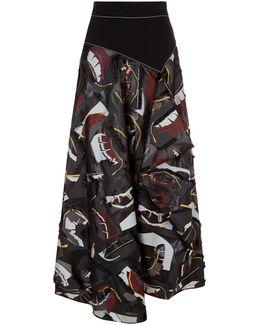 Nioka Draped Midi Skirt