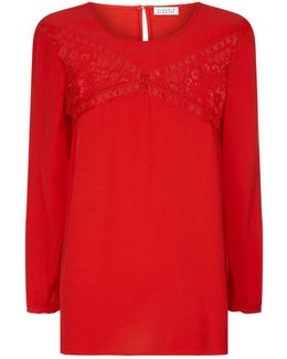 Bourgeoise Lace Insert Top