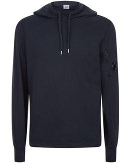 Cotton Arm Logo Zip Up Hoodie