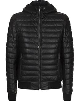 Quilted Lambskin Hooded Jacket