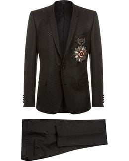 Two-piece Suit With Embellished Crest