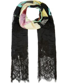 Counting Print Cashmere-silk Scarf